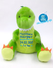 Personalised Baby Teddy Bear Gift,Embroidered Crocodile, Christening New Baby