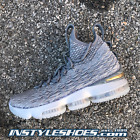 Nike Lebron 15 XV Wolf Grey Air Max Zoom Flyknit 897648-005 Mens 8-13 SHIPS NOW