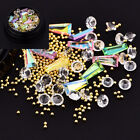 Nail Art 3D Tips DIY Mixed Bead Decoration Box Rhinestones Glitter Diamonds Ball
