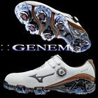 Mizuno Japan Golf Shoes GENEM 007 Boa Wide Soft Boots 51GM1700 White Brown
