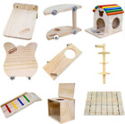 Small pet hamster Chinchilla wooden toy platform house seesaw ladder