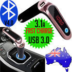 Wireless Bluetooth FM Handsfree Transmitter USB Charger Car Kit Mp3 Player Mic