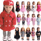 Dolls Bears - US Doll Clothes Dress Outfits Pajames For 18 inch American Girl Our Generation