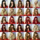 Fashion Women Long Hair Full Natural Wavy Fringe Synthetic Hair Wigs - C wig