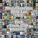 Miscellaneous DVD Lot #43: Pick Items to Bundle and Save!