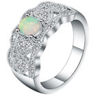 Lot White Fire Opal 925 Silver Sterling Charming Gemstone Ring Wedding Marriage