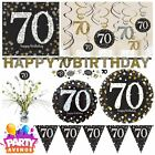 Gold Sparkling Celebration 70th Birthday Party Tableware Decorations Balloons