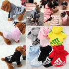Dog Costume Soft Small Clothes Warm Pet Clothing Winter Adidog Hoodie Casual NEW