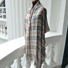 "Men's Cotton Classical Plaid Check Scarf Shawl Hijab Multicolor Large 26"" by 71"""