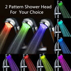 NEW Colorful LED Light 3/7 Colors Changing Handheld Shower Head Home Bathroom