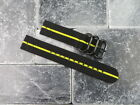 20mm Balistic Nylon Diver Strap 3 Rings PVD 2PC Watch Band Military Stripe 20