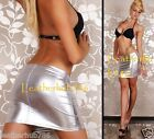 New Sexy Hot Mini Skirt Genuine Lambskin Leather Silver Women Party Wear 120