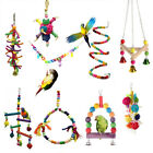 Pet Swing Bird Toy Parrot Rope Harness Parakeet Cockatiel Budgie Cage Hang Toys