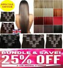 Hair Extensions synthetic hair feels real curly blonde brown ginger Clip in