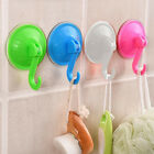 5X Removable Plastic Wall Kitchen Bathroom Hooks Hanger Suction Cup Suckers ~
