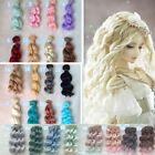 15cm DIY Doll Wig High-temperature Wire Hair for 1/3 1/4 1/6 Curly Hair