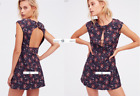 FREE PEOPLE Sz 8 SAY YES Jacquard Mini Dress BLACK New Tags