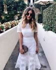 Authentic New Self-Portrait Bea Midi Dress White UK 6,8,  RRP £300