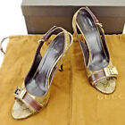 Auth GUCCI Pumps Crystal GG Ladies used T5494