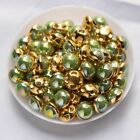 Sew on Pearl Green AB Green Silver claw 6mm/8mm 100pcs use for DIY accessories