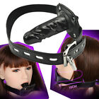 Restraint Leather Silicone Mouth Gag Harness Couple Game Bongdage Oral Plug KM