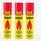 GENUINE Quality Ronson Universal Lighter Gas Butane Refill For All Lighter 300ML
