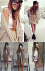 Women Tops Oversized Batwing Sleeve Knitted Sweater Loose Cardigan Outwear Coat