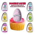 x25 HATCHIMALS Premium 2 layer cake toppers, PERSONALISED! BRAND NEW DESIGNS!