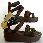 Cat P306666 Penny Ladies Leather Sandals Peat/Muddy w/Buckle UK 3-6 (R40B)(Kett)