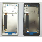 Front Bezel Middle Frame Housing side Power buttons For Sony Xperia M4 Aqua