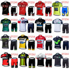 Mens Cycling Set Jersey Bib Shorts Kits Bike Pad MTB Shirt Brace Pants Knicks