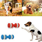 Non-toxic Rubber Dumbbell Chew Toys Puppy Pet Dog Chewing Toy Teeth Gum Cleaning