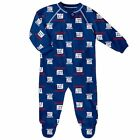 New York Giants Infant Coverall NFL Football Baby Full Footed Sleeper Pajamas $16.99 USD on eBay
