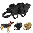 Military Molle Dog Harness K9 Tactical Vest with 3 Bags for Police Working Dogs
