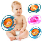 360° Rotate Spill-Proof Bowl Baby Kids Universal Infant Feeding Dishes Gyro Bowl