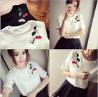 Fashion Girls Women T-Shirts Korean Style Loose Short Sleeve Summer Blouses Tops