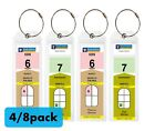 Kyпить (4/8)Pack NARROW Cruise Tags - Luggage Etag Holder with Zip Seal & Steel Loops на еВаy.соm