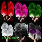 1 pair 15m 18m long belly dance 100 silk fan veil 6 colors Free shipping