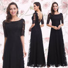 Ever-Pretty Formal Black Bridesmaid Women Evening Prom Ball Gown Party Dress