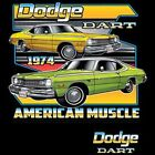 1974 Dodge Dart American Muscle Adult Unisex Long Sleeve Car T Shirt 20413HD2 $19.99 USD