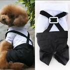 US Pets Dog Tuxedo Shirt Outfits Puppy Cat Bow Suit Coat Jacket Apparel Costume