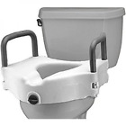 Elevated Toilet Seat With Rails And Lock