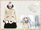 Angel Beats! Kanade Tachibana Cosplay Costume Uniform Custom Made