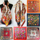 winter fashion for ladies - Womens Ladies Fashion Red Paisley Silk-Satin Square Head Scarf for Beach 35