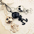 Fashion UFO Style Robots Skeleton Chain Necklace Pendant 3Color To Choose