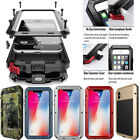 HEAVY DUTY Shockproof Bumper Aluminum Metal Cover Case Waterproof iPhone X 8 6 7