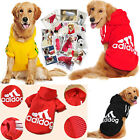 Warm Winter Large Pet Dog Adidog Cotton Hoodie Coat Jacket Sweater Clothes Sport