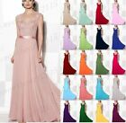 Long Chiffon Lace Formal Prom Bridesmaid Evening Ball Gown Party Dress Size 6-26