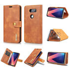Genuine Real Leather Flip Stand Card Wallet Case Cover For LG V20 V30 G6 Phone