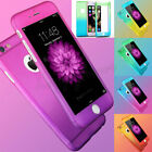 Hybrid 360° Shockproof Case Tempered Glass Cover For Apple iPhone 8 7 6 6s 5s SE